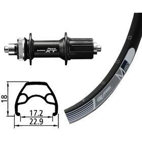 Rodi M460 Roue arrière roue arrière 26x1,9 32L Disc avec Centerlock Deore XT, black